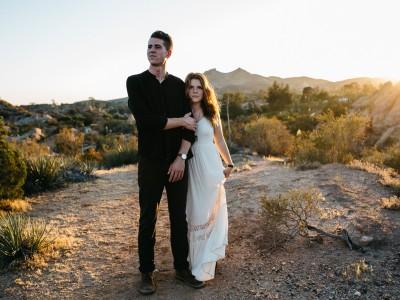 Sunset Desert Engagement