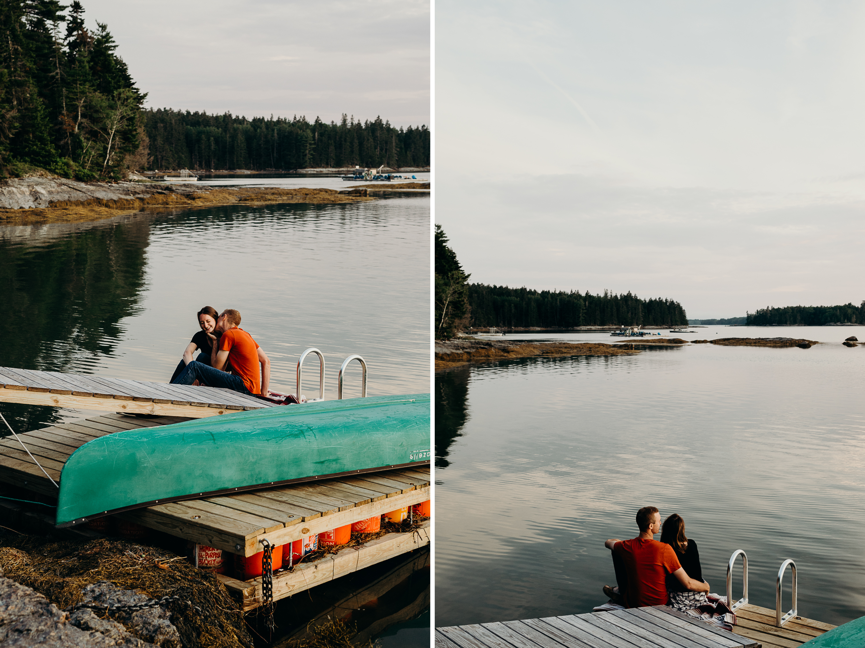 10-1 Anniversary Session on the Coast of Maine | Sarah & Dan