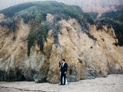 Foggy Malibu Wedding Portraits