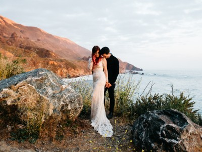 Hipster Big Sur Elopement