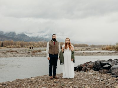 Maddie & AJ | Autumn Snake River Jackson Hole Elopement