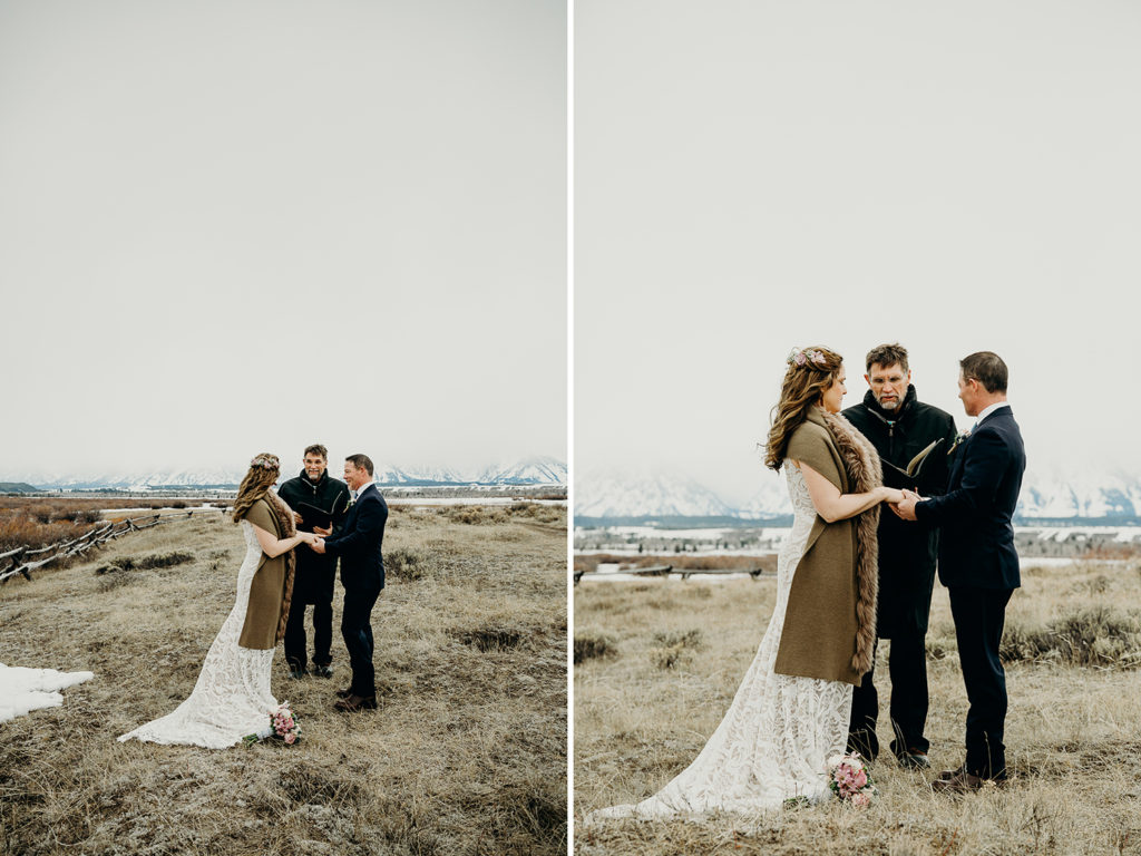 grand teton national park elopement at cunningham cabin