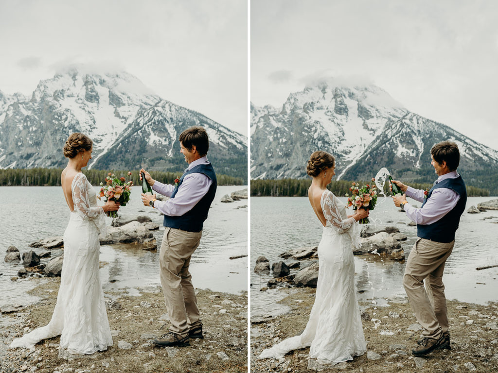 backcountry wedding celebration in grand teton national park