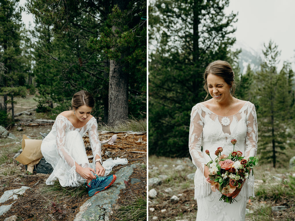 rue de seine bride at backcountry elopement