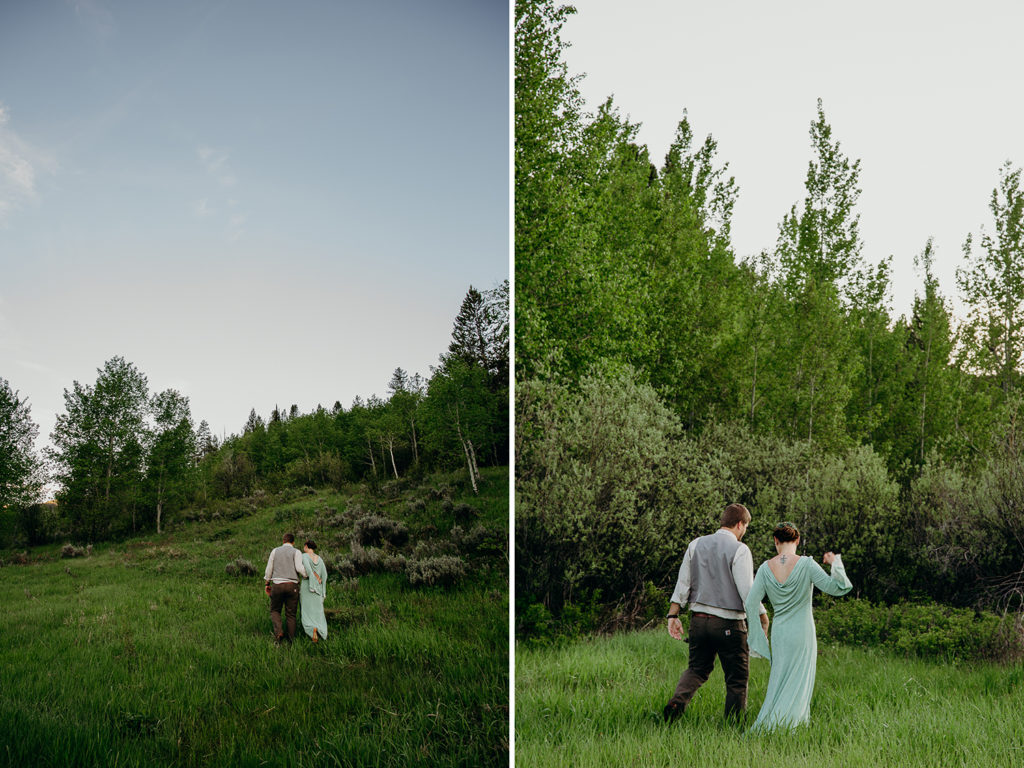 lord of the rings themed wedding in driggs idaho