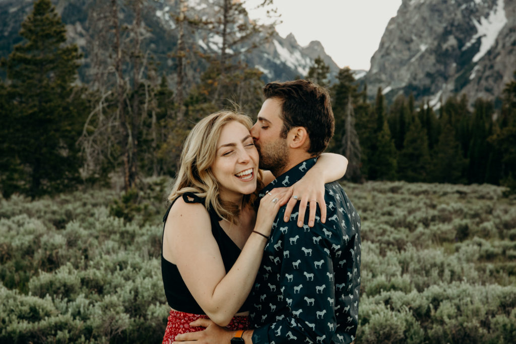 engagement session in grand teton national park jackson hole wedding photographer
