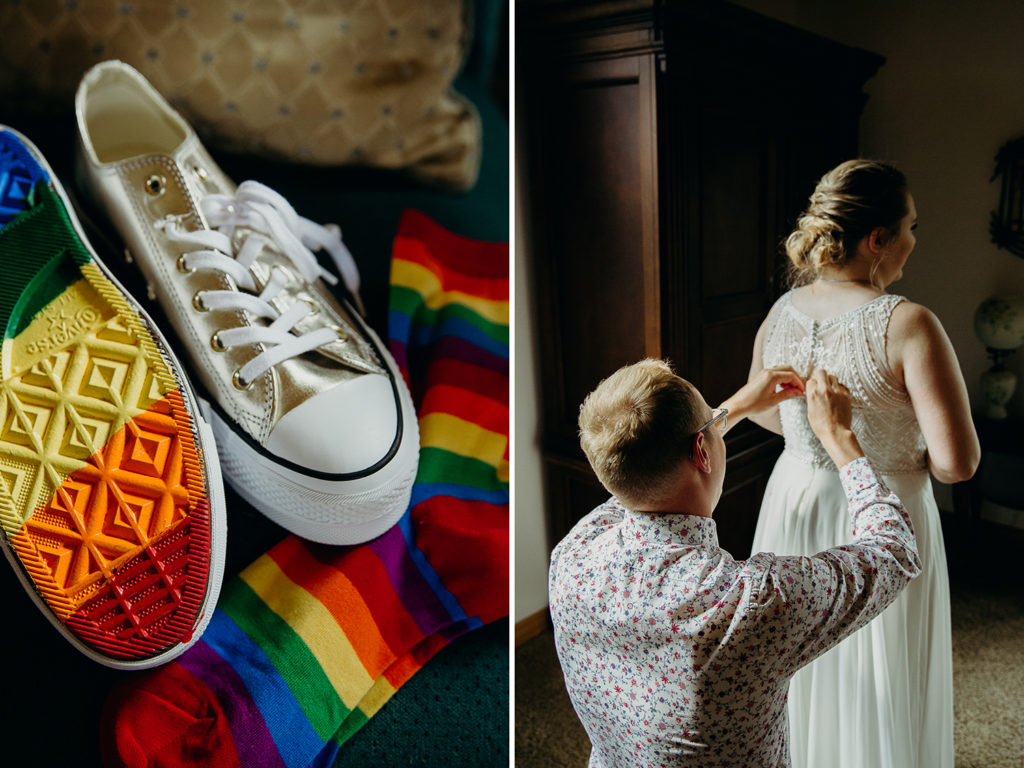 pride month wedding in Wyoming