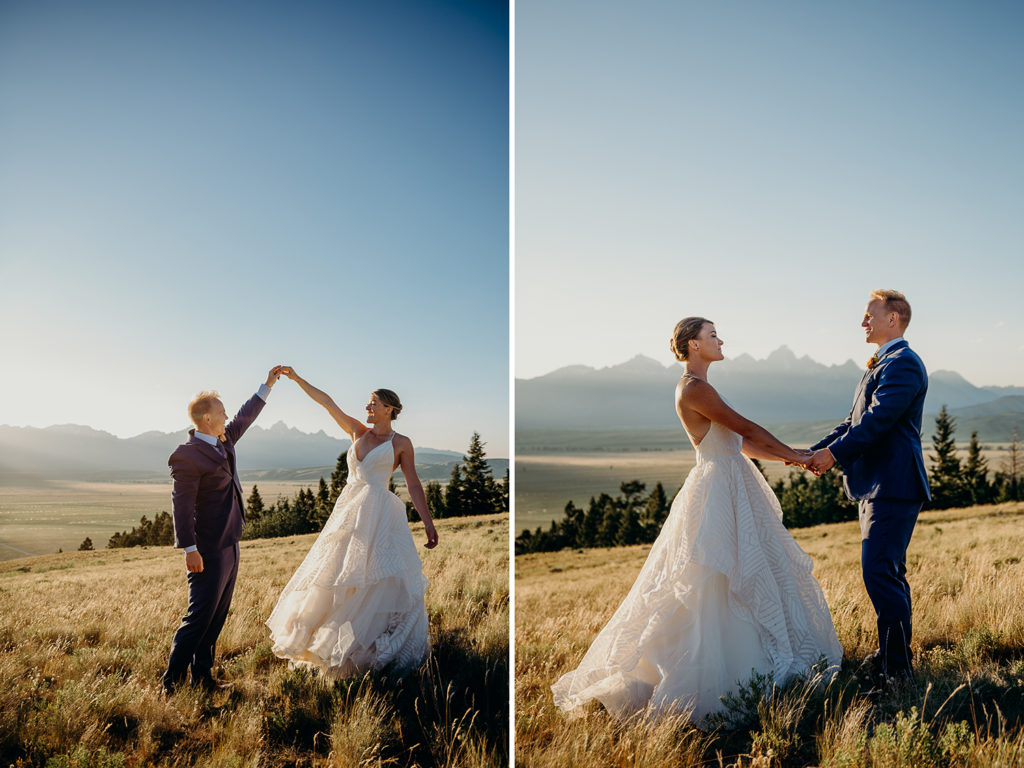 Hayley Paige Wedding Dress Jackson Hole Wedding