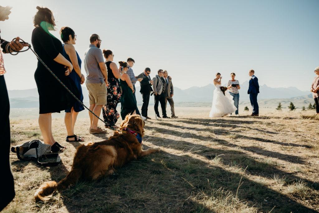Wedding in the Tetons