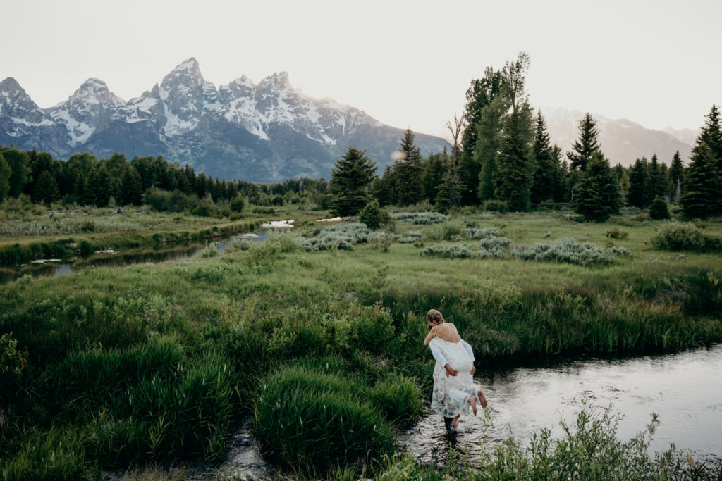 wedding in grand teton national park
