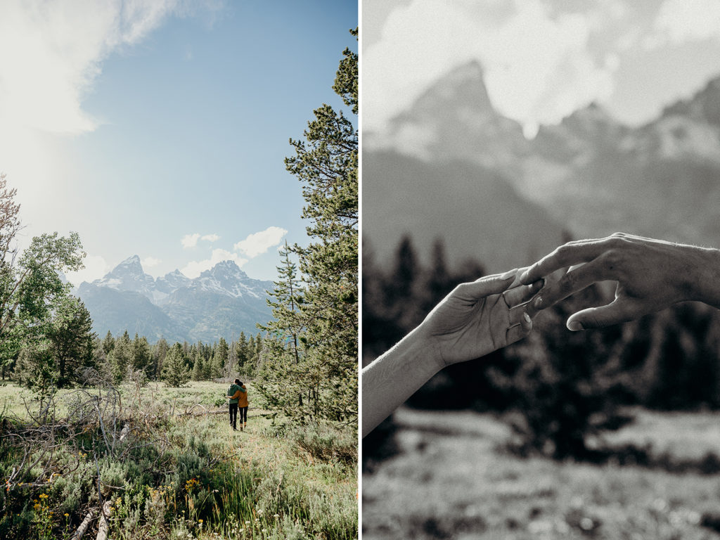 Engagement Photos in Grand Teton National Park