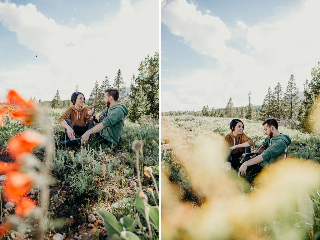 Wildflower Engagement Session in Grand Teton National Park