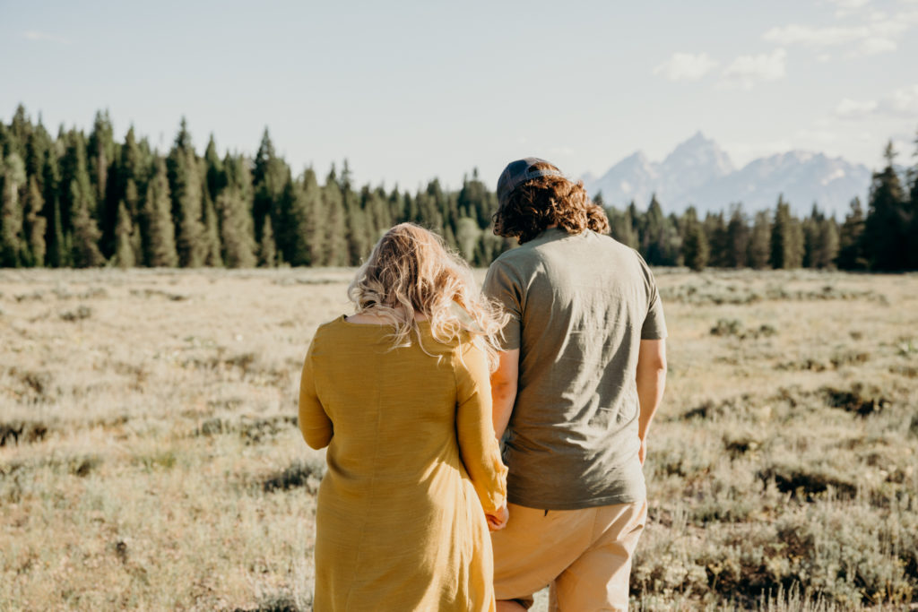grand teton couples photoshoot