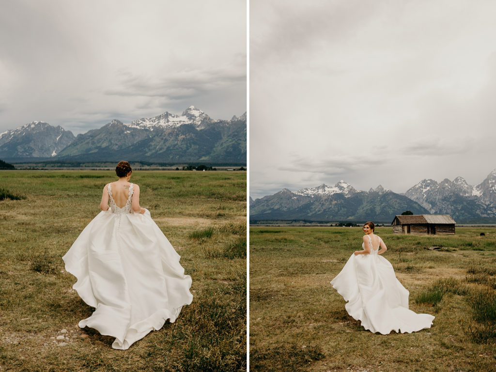 Wyoming Wedding Photographer at Mormon Row Wedding