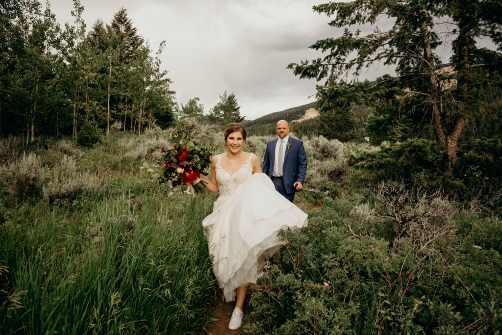 Wedding at the Wedding Tree Jackson Hole