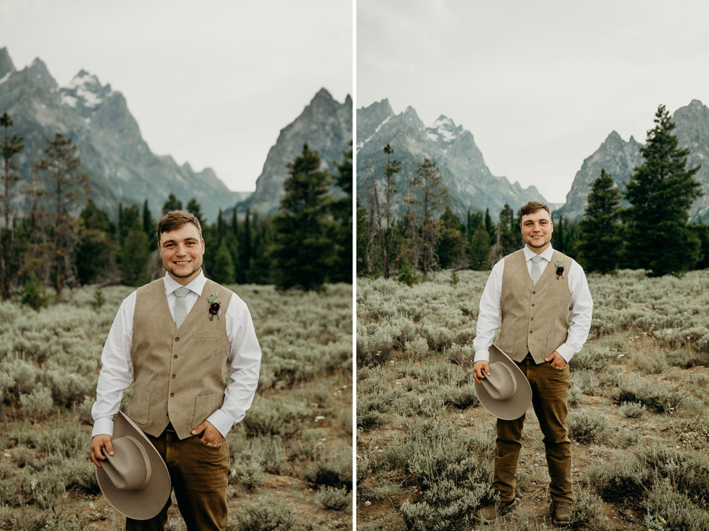 cowboy wedding in wyoming