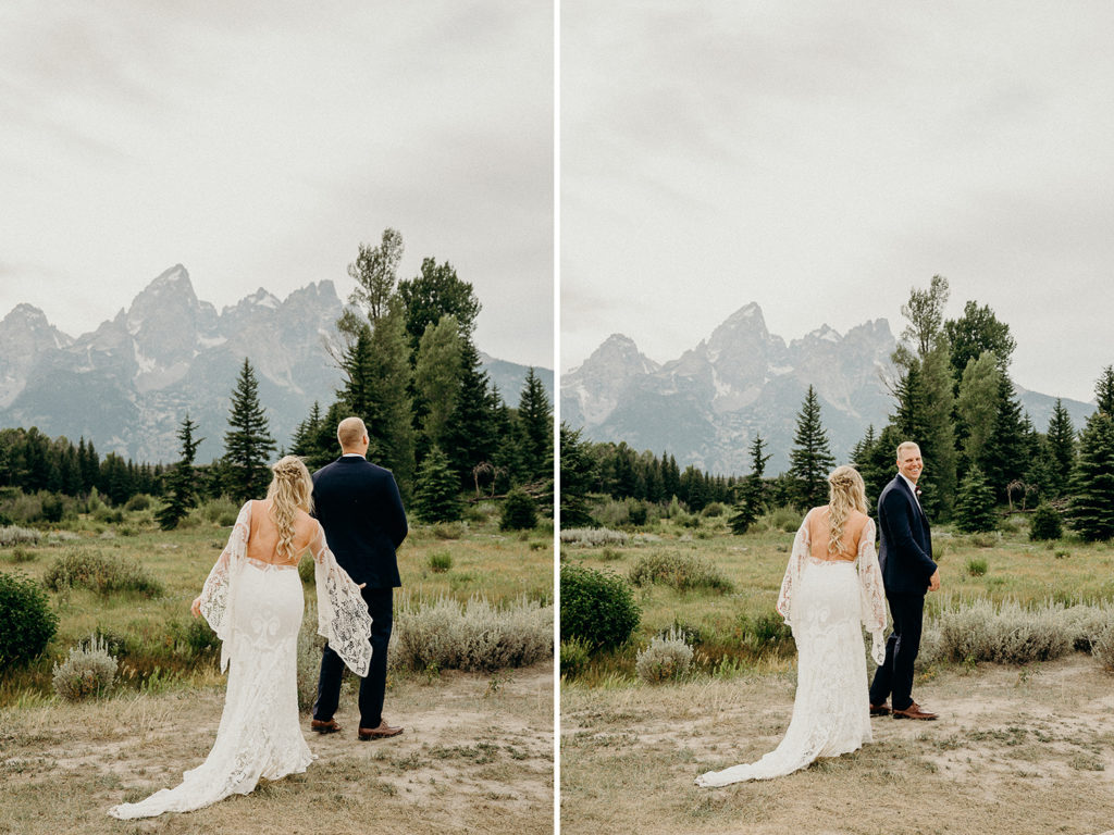 jackson hole wedding first look