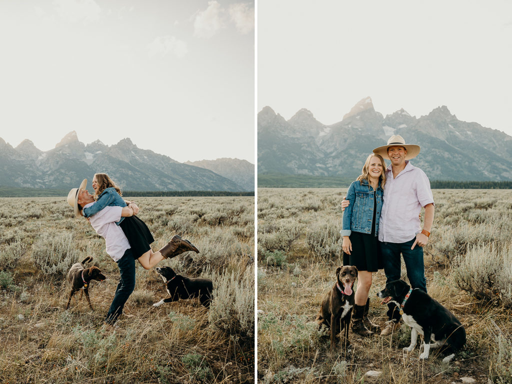 Wyoming engagement session