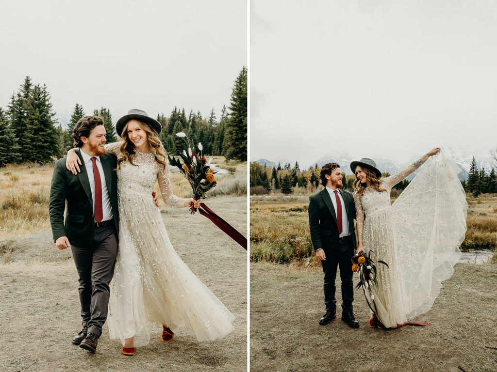 Adventure Wedding in Grand Teton National Park