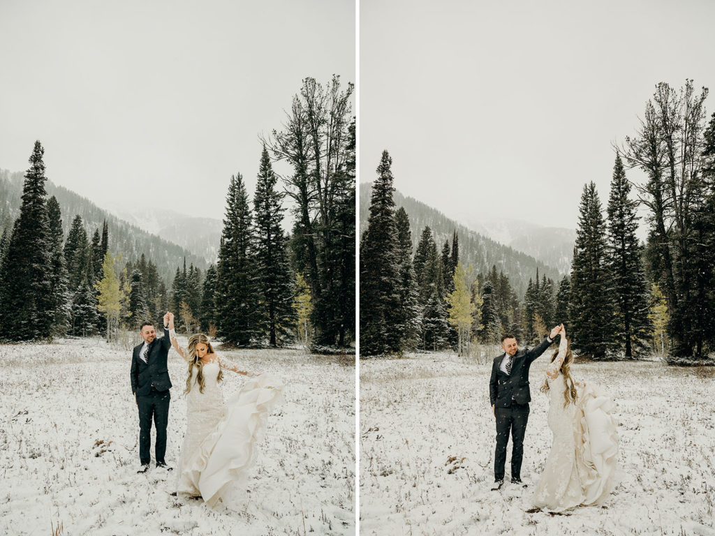 Teton Pass Winter Wedding