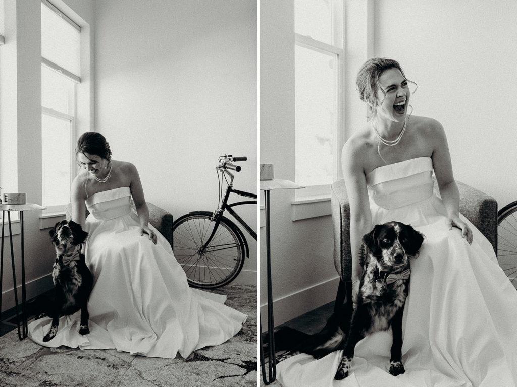 colorado wedding with dog