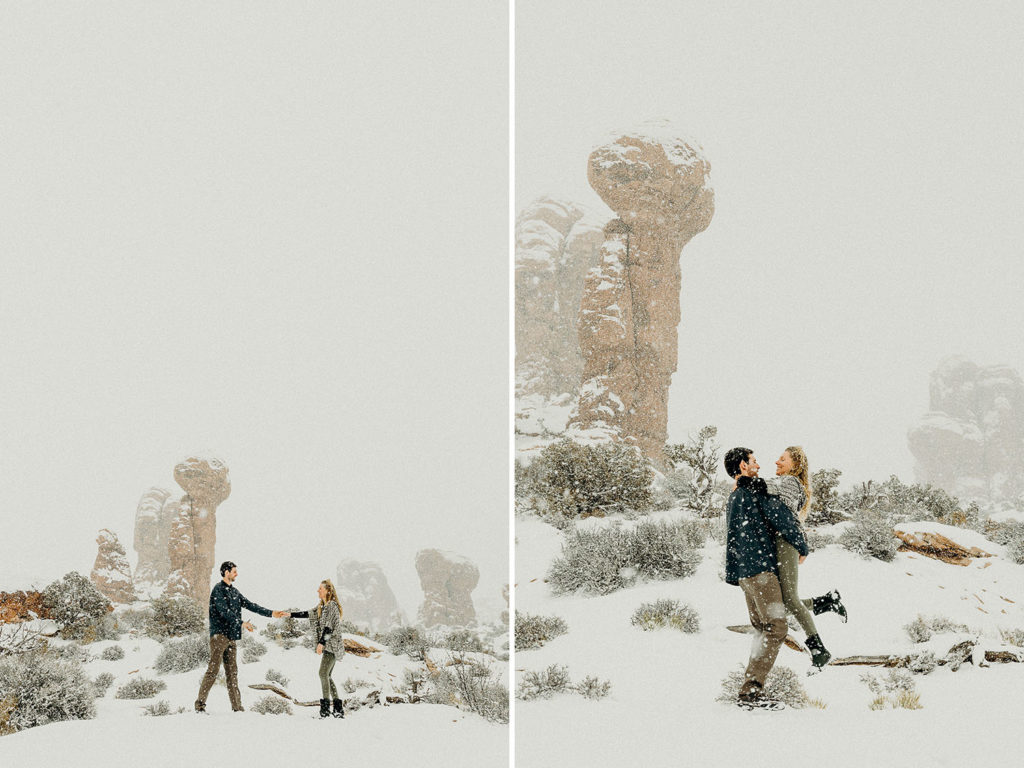 arches national park winter wedding