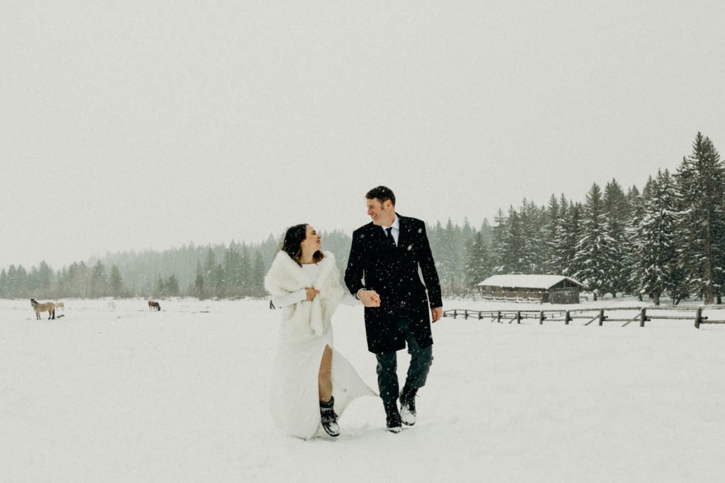 Intimate Jackson Hole Winter Wedding