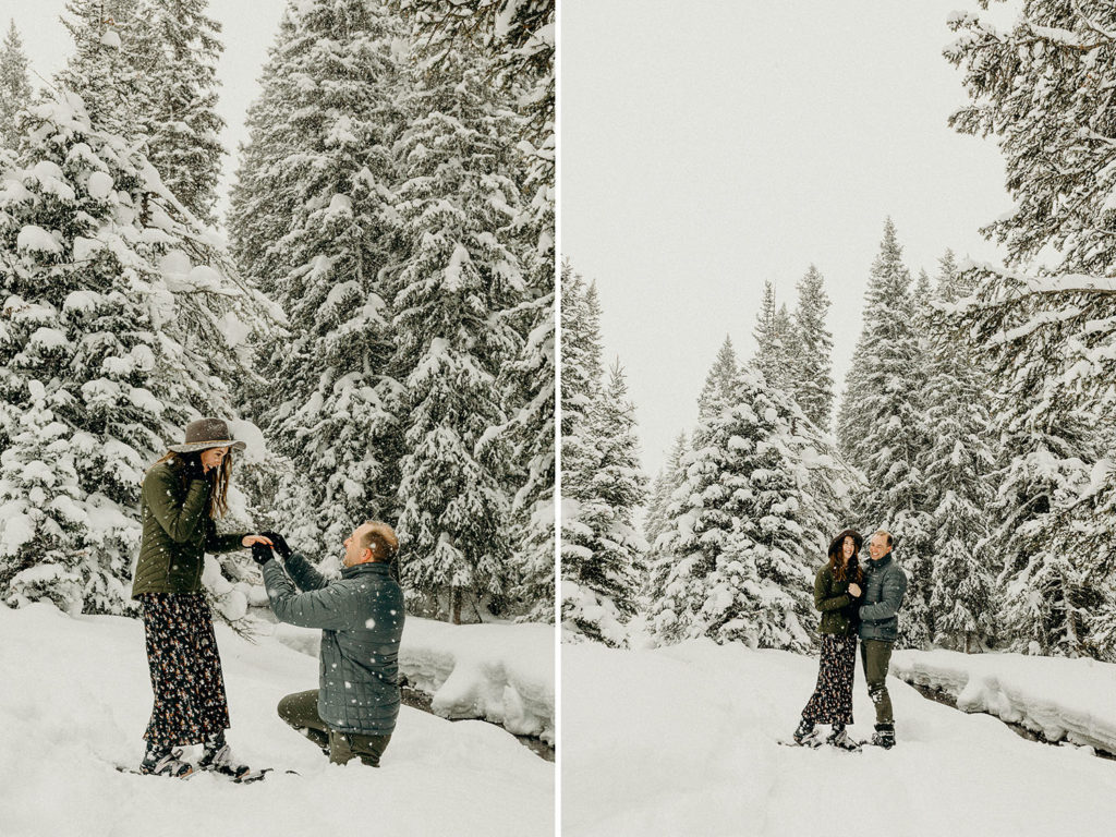 Snowshoeing proposal in Jackson Hole