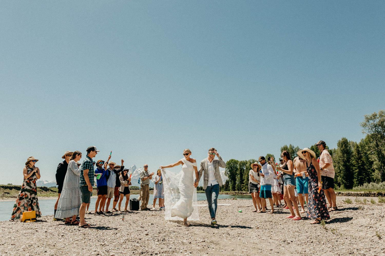 Jackson Hole Rafting Wedding